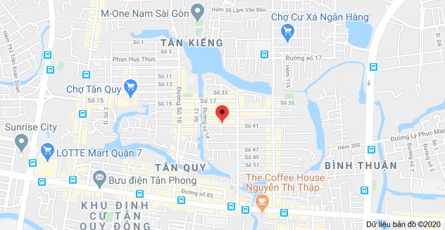Bản đồ của 123 Số 41, Tân Quy, Quận 7, Hồ Chí Minh