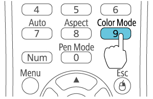 Cách chỉnh màu máy chiếu Epson